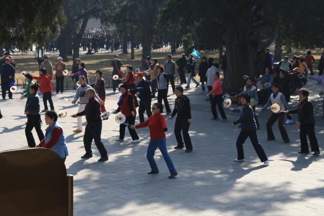 Tanzende Chinesen